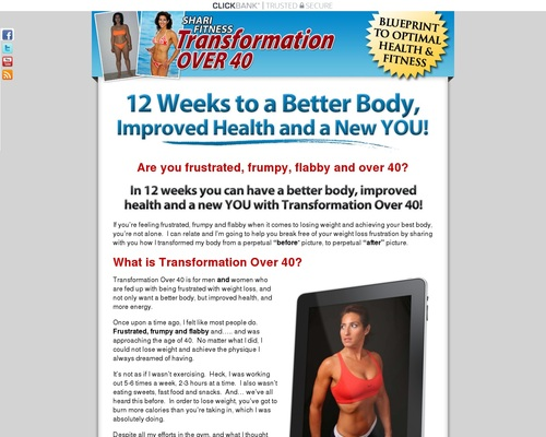 "transformationover40.com  Shari Fitness Presents ""Transformation Over 40"" Fat Loss Over 40"
