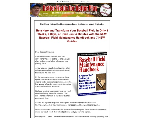 Baseball Field Maintenance Handbook