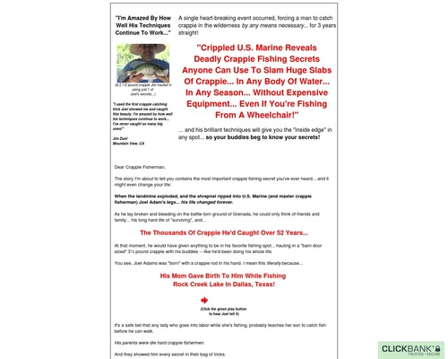 The Instant Crappie Catching Tricks E-Kit!