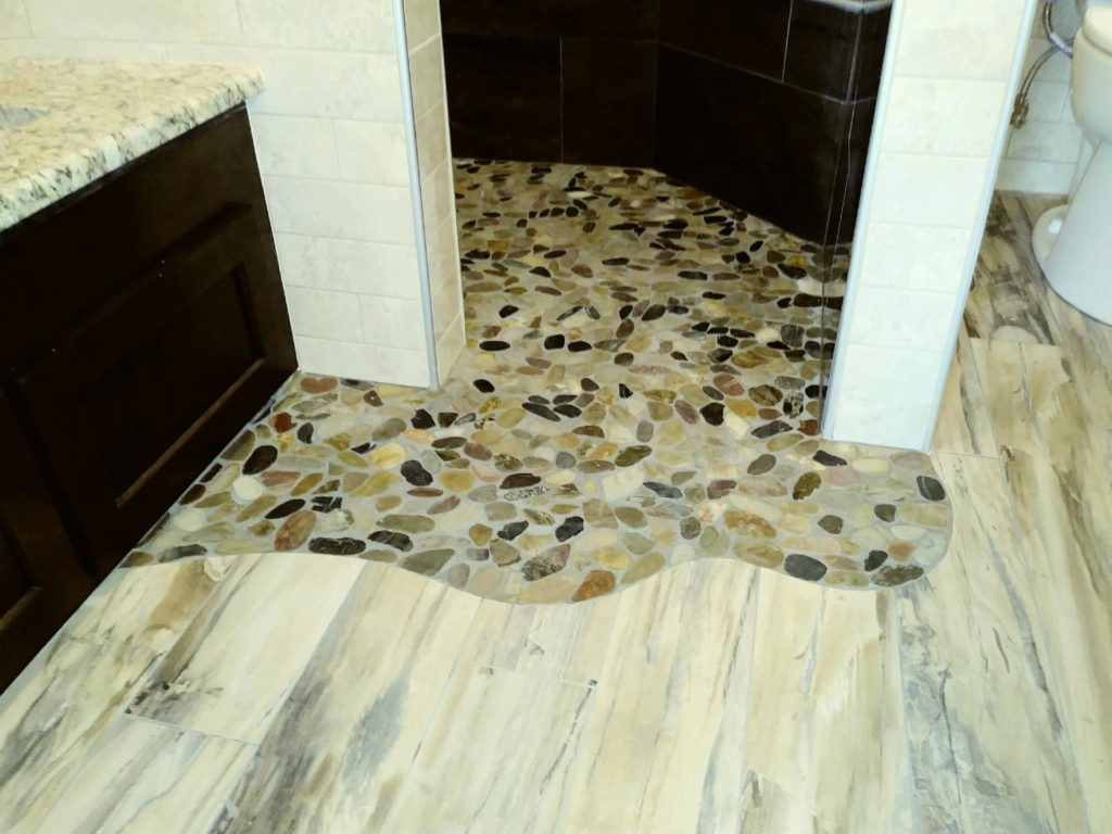 bathroom shower with beautiful natural