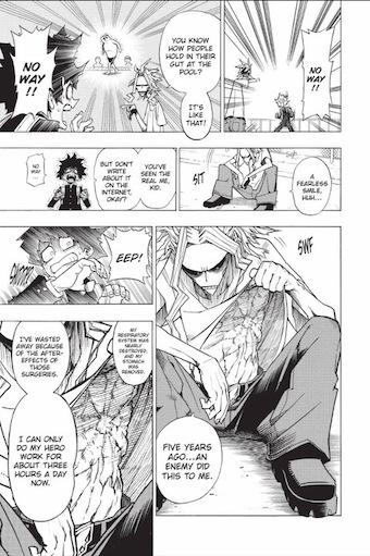 My Hero Academia (Boku no Hīrō Akademia) blessure