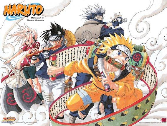 Naruto manga illustration couleurs