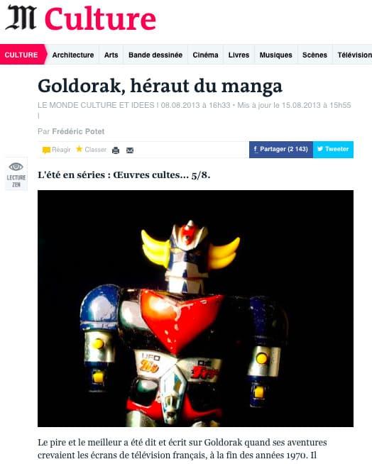 Goldorak dans Le Monde 1