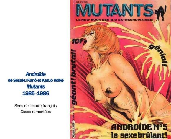mutants Préhistoire du manga en France