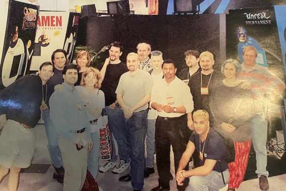 Epic Games and Digital Extremes in 1998 (source @TimSweeneyEpic).