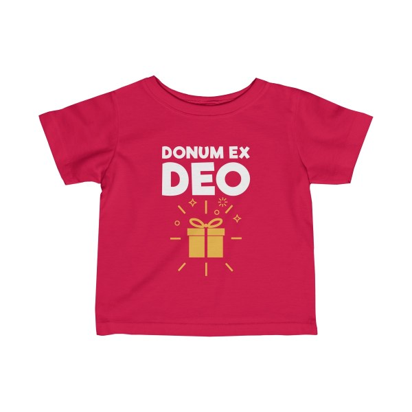 Donum ex Deo (gift from God) infant t-shirt - red