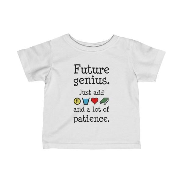 Future genius infant t-shirt - white