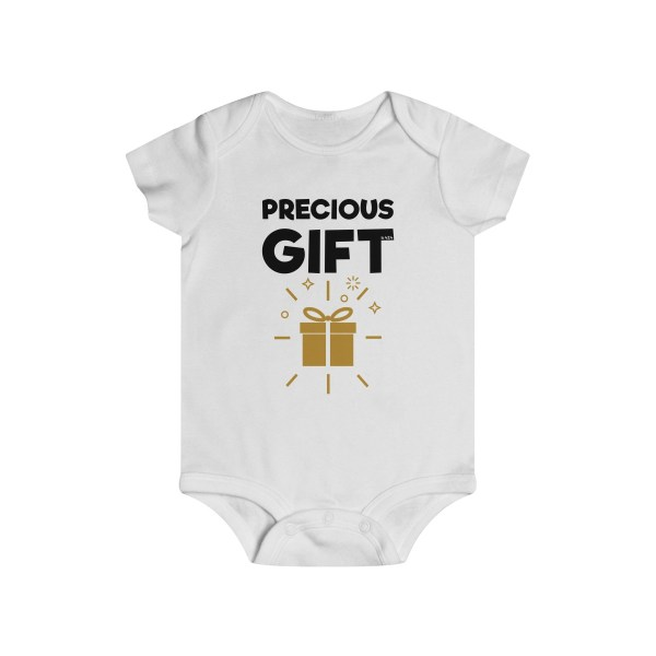 Precious gift infant onesie - white