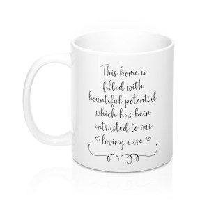 This house is filled with bountiful potential left-handed mug - front