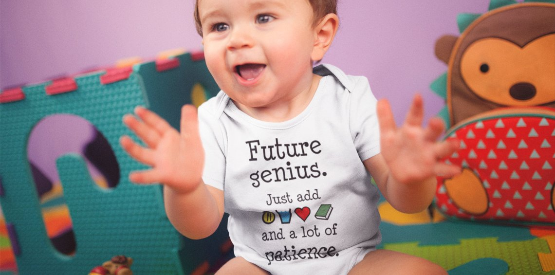Future Genius Happy Boy Clapping