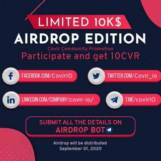 COVIR Airdrop – robotic disinfection systems international licenses based on tezos blockchain