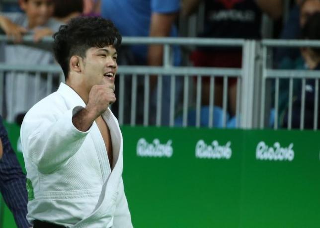 8月8日、リオデジャネイロ五輪、柔道の男子73キロ級、大野将平が金メダルを獲得した(2016年 ロイター/Toru Hanai)