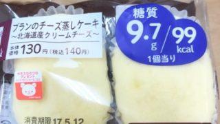 ブランのチーズ蒸ケーキとパンケーキの脂質