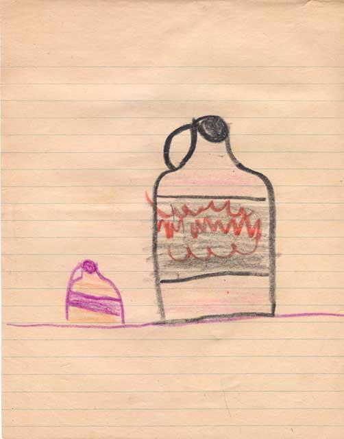 Bourbon Bottle Drawing