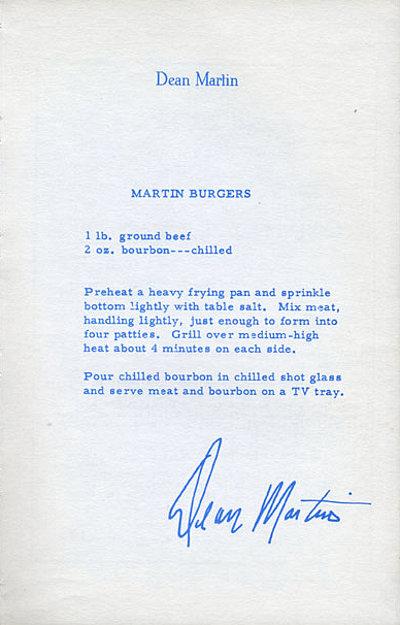 Dean Martin letter