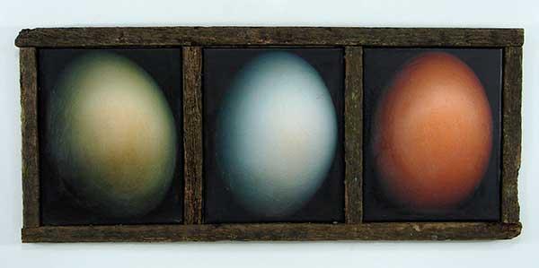 three different eggs