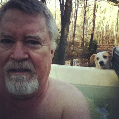 Gerret and the hot tub