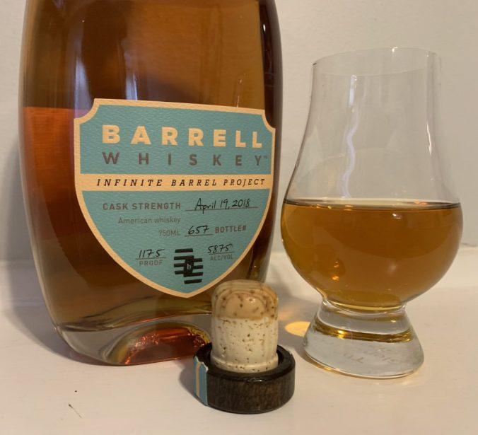 Barrell Bourbon with glencairn glass