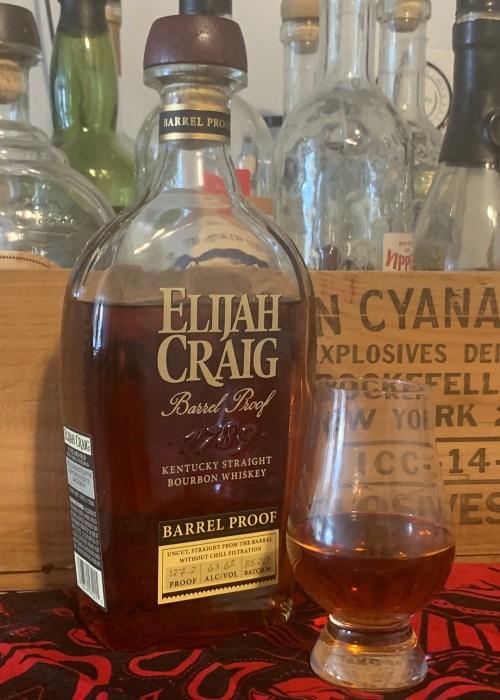 Elijah Craig - Barrel Proof with glencairn glass