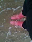 I love my pink wellies!