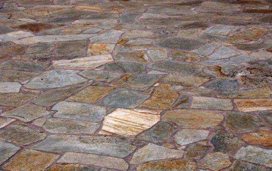flagstone sunset gold quartzite patio