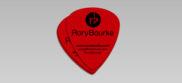 Make Guitar Picks Credit Cards