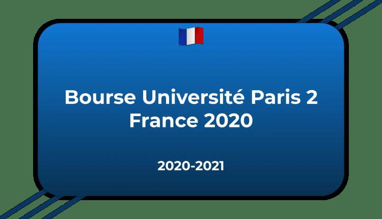 Bourse Université Paris 2 France 2020