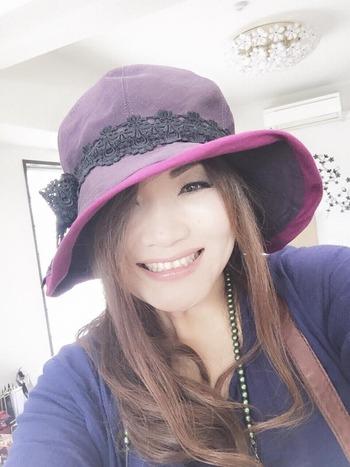 中田しのぶさん帽子2015