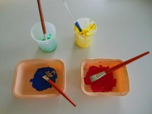 Géométrie pour les tout-petits : activité peinture