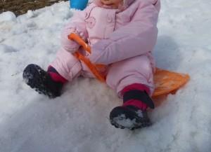 Bout de chou à la neige