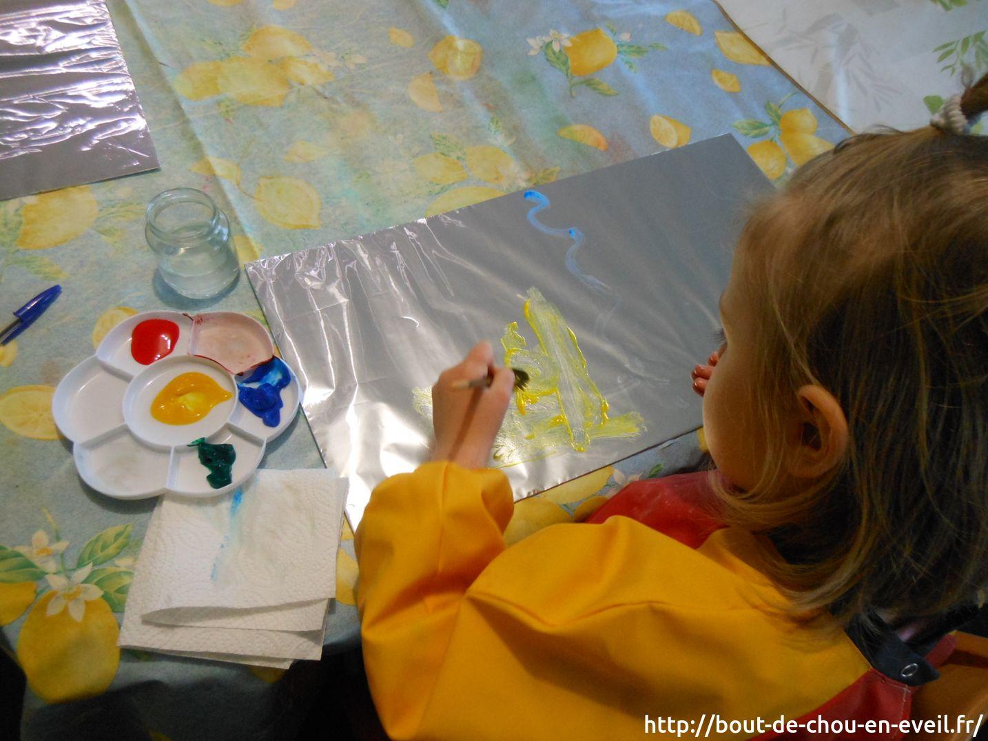 Activite Peinture Libre Sur Aluminium Bout De Chou En Eveil