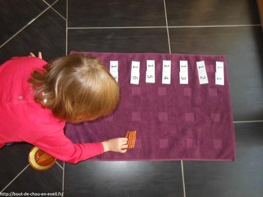 Activités Montessori nombres de 11 à 19
