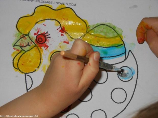 Activité peinture enfant 4 ans