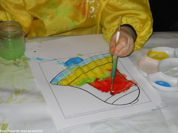 Activité peinture sur le thème de Pâques