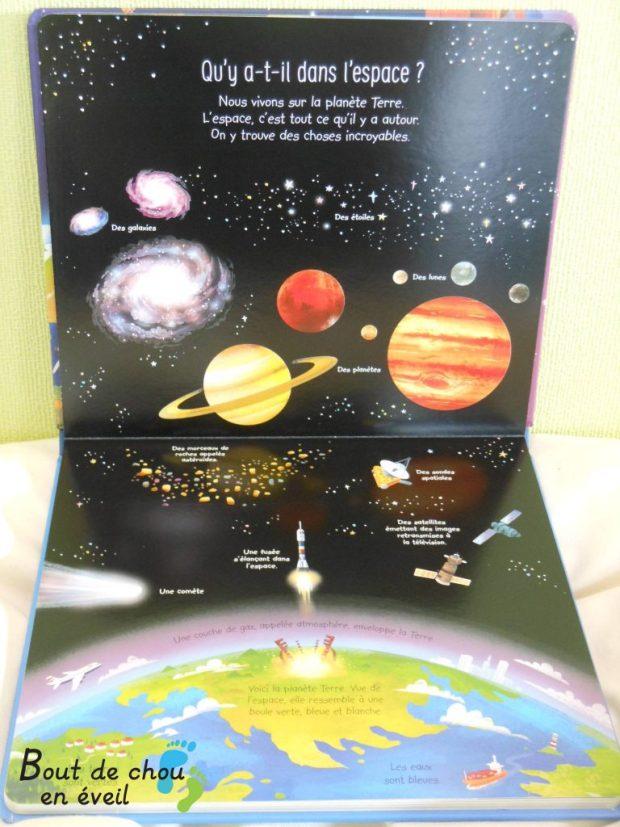 Usborne, mon premier livre sur l'espace