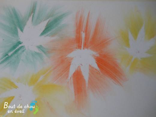 Activité d'automne poussière de pastels