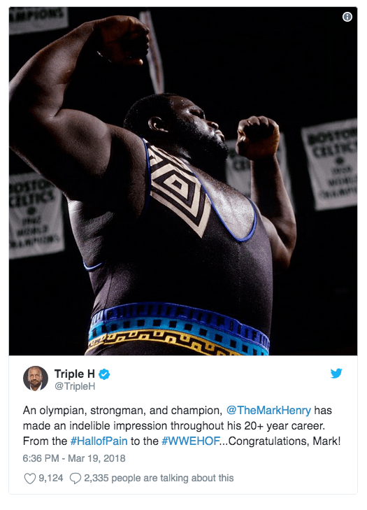 triple h mark henry wwe twitter