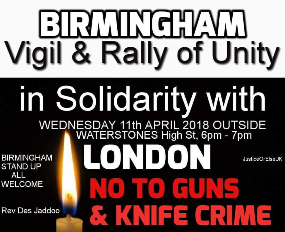 Justice or else UK Rally Birmingham