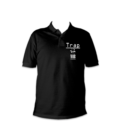 Trap Mob polo black