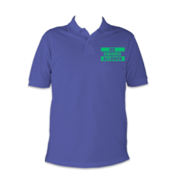 no squares polo blue and green