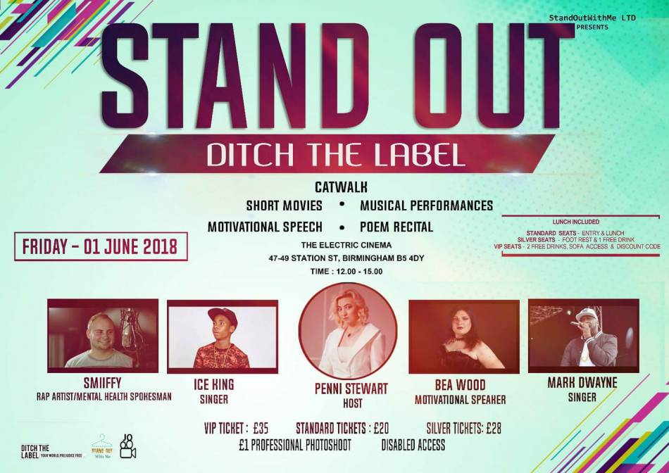 stand out with me ditch the label