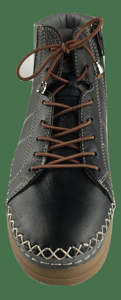 chaussures montantes, cuir, Saintanne, coco abricot, baskets