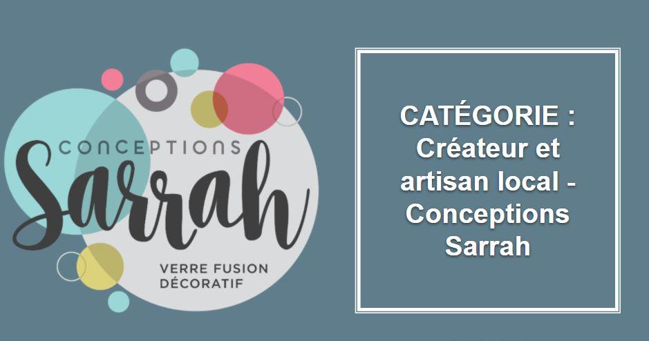 CRÉATEUR & ARTISAN : Conceptions Sarrah