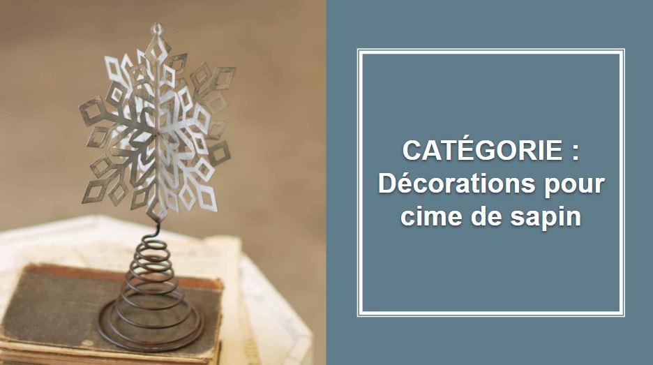 CATÉGORIE : Décorations pour cime de sapin