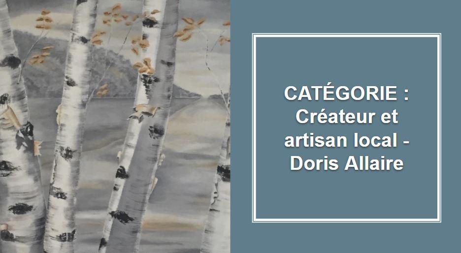 CRÉATEUR & ARTISAN : Doris Allaire