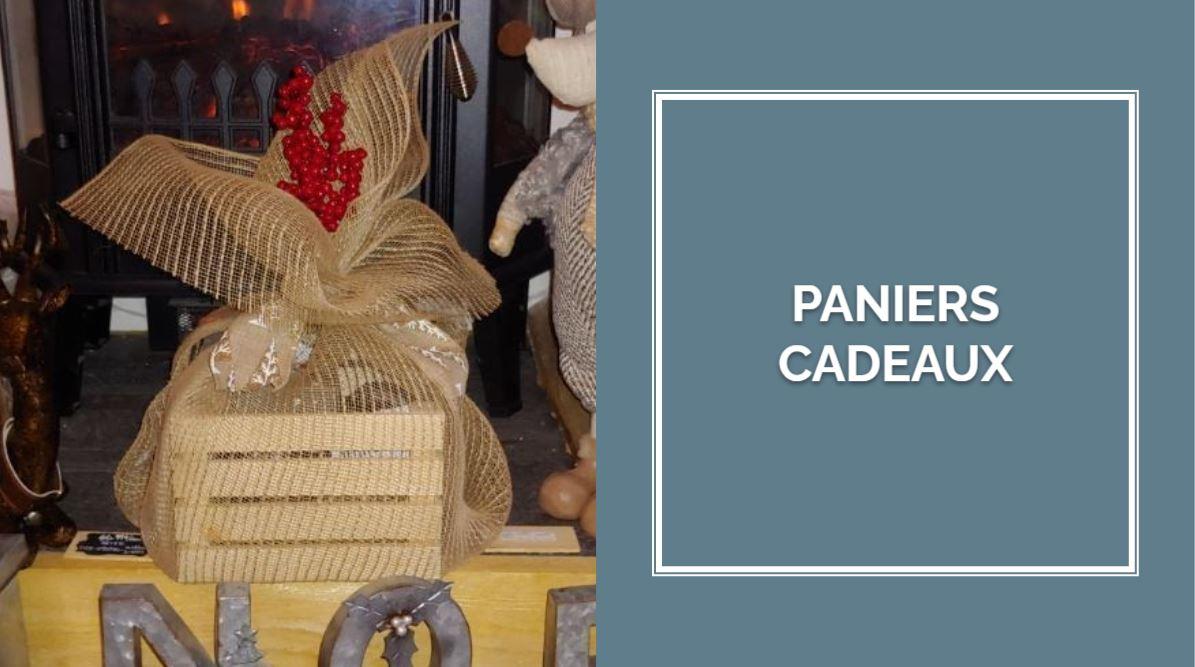 PANIERS CADEAUX (avec produits artisanaux et du terroir)