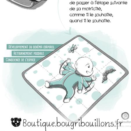 La motricité libre - Extrait 1 - transat/sol - Affiche Bougribouillons Petite enfance