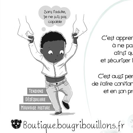 La motricité libre - Extrait 3 - L'acquisition de la marche - Affiche Bougribouillons Petite enfance