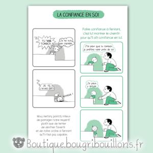 Affiche petite enfance sur la confiance ne soi de l'enfant - Bébé