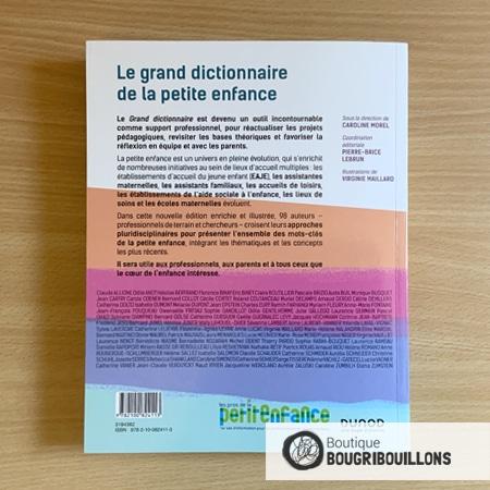 Le grand dictionnaire de la petite enfance - Dernière de couverture - Dunod - Caroline Morel - Pierre-Brice Lebrun - Virginie Maillard